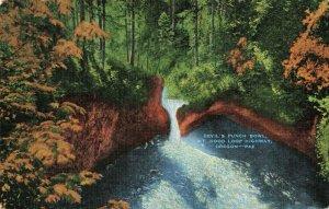 Postcard Devil's Punch Bowl Mt Hood Loop Highway Oregon