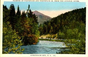 NY - Ausable River & Whiteface in Distance    (tear)