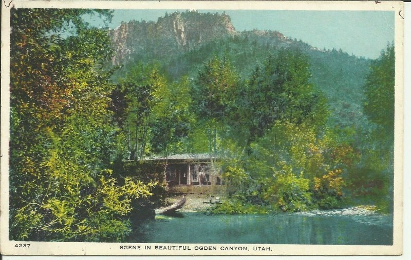 Scene In Beautiful Ogden Canyon, Utah