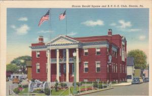 Cannon, Sharon Herald Square and BPOE Club, Sharon, Pennsylvania, PU-1947
