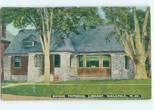 Divided-back LIBRARY SCENE Walpole - Near Brattleboro & Keene NH AF1719