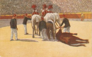 Bulfighting scene.Horses Nice vintage Spanish postcard