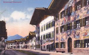Partial Street View, Mittenwald- Obermarkt, Bavaria, Germany, 1900-1910s