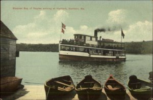 Harrison ME Steamer Boat Bay of Naples c1910 Postcard
