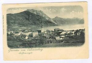 Gmunden vom Calvarienburg. Austria, 1890s