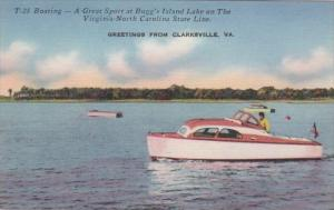Virginia Greetings From Clarksville Boating On Bugg's Island Lake