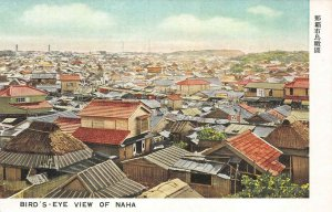 Bird's Eye View of NAHA Okinawa, Japan Vintage Postcard