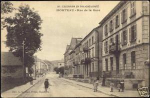 france, MORTEAU, Rue de la Gare (1910s)