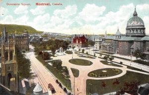 Canada Montreal Dominion Square, platz, place, tram air view