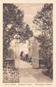 Virginia Williamsburg Palace Garden Governors Palace Albertype