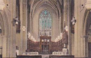 North Carolina Durham Interior Of Chapel Duke University Albertype