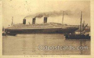 SS Ile De France Le Havre Steamer, Steam Boat, Ship 1932 postal used 1932