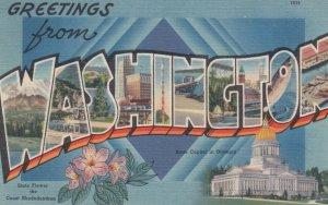 Large Letter Greeting, WASHINGTON, 1930-40s