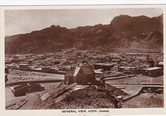 Yemen Aden General View Real Photo