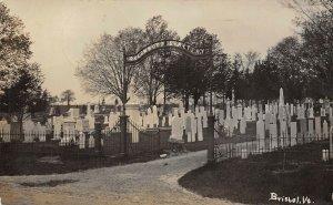 LP49  Greenwood Cemetery Bristol Vermont Vintage Postcard RPPC