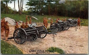 1910s WWI Military Postcard LIGHT FIELD ARTILLERY Brown Bros.  Unused
