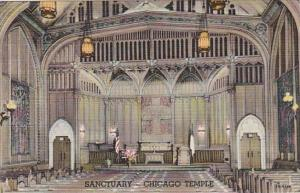 Illinois CHicago Sanctuary The Chicago Temple First Methodist Curteich