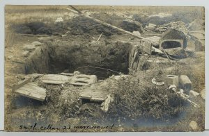 Rppc Smith Cyclone Cellar, 23 People Saved from Tornado c1900s Postcard O17