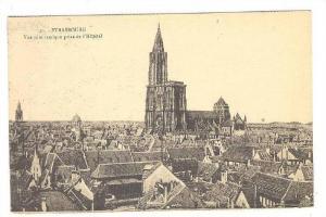 STRASBOURG, Vue panoramique prise de l'Hospital, Alsace, France, 00-10s