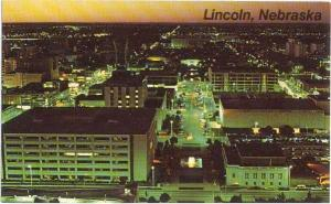Business Section of Lincoln, Nebraska, NE from State Capitol, Chrome