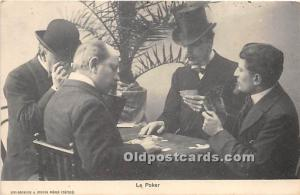 Old Vintage Gambling Postcard Post Card Gambling Postcard Le Poker