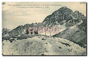 Old Postcard Dauphine Col du Galibier and Viewpoint