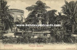 barbados, B.W.I., BRIDGETOWN, Fountain Gardens (1910s)