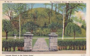 The Prehistoric Mound, Moundsville, West Virginia, 1930-40s