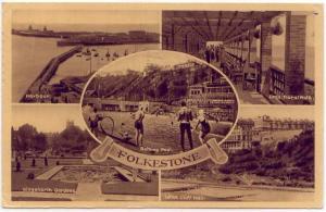 Folkestone (Kent), UK, Multi-Views, 1954