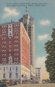 Michigan Lansing Capitol Avenue Looking South Showing Olds Hotel Olds Tower a...