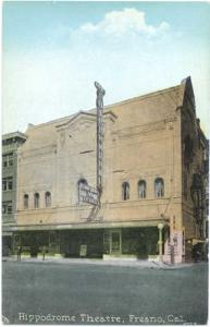 Hippodrome Theatre in Fresno, California, CA, Divided Back