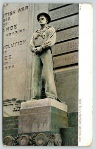 Indianapolis IN~Soldiers & Sailors Monument~South Side Close Sailor Statue~c1905