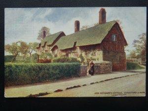 Official London & North Western Railway ANN HATHAWAYS COTTAGE - Old Postcard