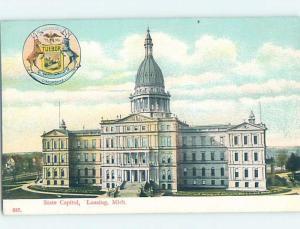 Unused Divided-Back STATE CAPITOL BUILDING Lansing Michigan MI G1380