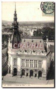 Old Postcard The Sens Town Hall