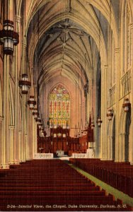 North Carolina Durham Chapel Interior Duke University Curteich