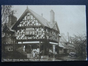 Wirral Merseyside PORT SUNLIGHT The Post Office & Park Road c1907 Postcard