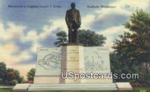 Monument to Captain Joseph T Jones in Gulfport, Mississippi