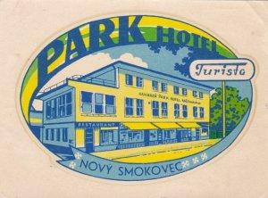 Slovenska Presovsky Park Hotel Turista Vintage Luggage Label lbl0321