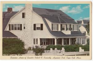 Summer Home of Senator Robert F. Kennedy, Hyannis Port, Cape Cod, Mass, Postcard