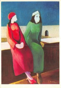 Art Postcard, Silence (1971) by Ludwig Schwerin BA3