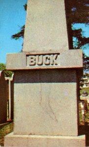 Maine Bucksport Colonel Jonathan Buck Monument Founder Of Bucksport