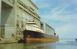 Loading Great Lakes Freighter Port Arthur Ontario ON Unused Vintage Postcard E12