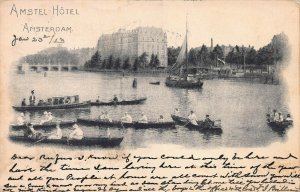 Amstel Hotel, Amsterdam, Netherlands, Postcard, Used in 1913