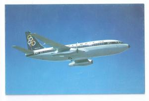 Olympic Airways Boeing 737-200 Vintage Chrome Postcard Jet