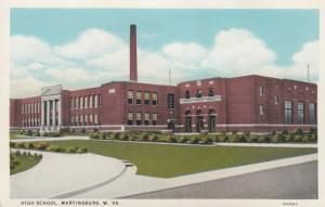 MARTINSBURG , West Virginia , 1910s ; High School