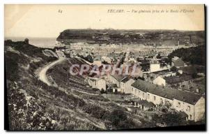 Old Postcard Fecamp General View from the Road Etretat