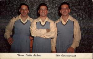 Three Little Bakers Acromaniacs TV & Theatre Act & Bakers Postcard #1