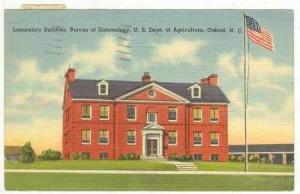 Laboratory Building, Bureau of Entomology, U. S. Dept. of Agriculture, Oxford...