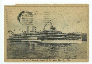 Postcard Steamer Hendrick Hudson River Day Line 1940 VPC01.
